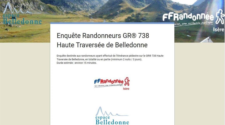 ENQUÊTE : La fréquentation du GR® 738 Haute Traversée de Belledonne