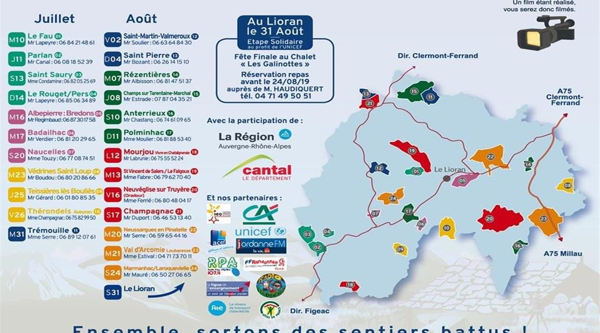 Tour du Cantal pédestre 2019