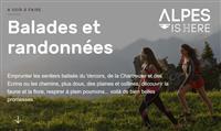 Les carto-guides de randonnée de l'Isère