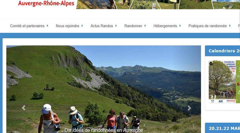 Un nouveau site  pour la randonnée en Auvergne-Rhône-Alpes